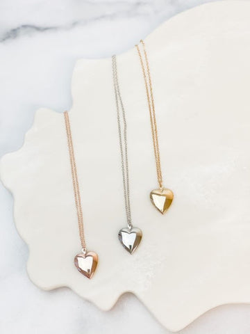 Heart Locket Pendant Necklaces