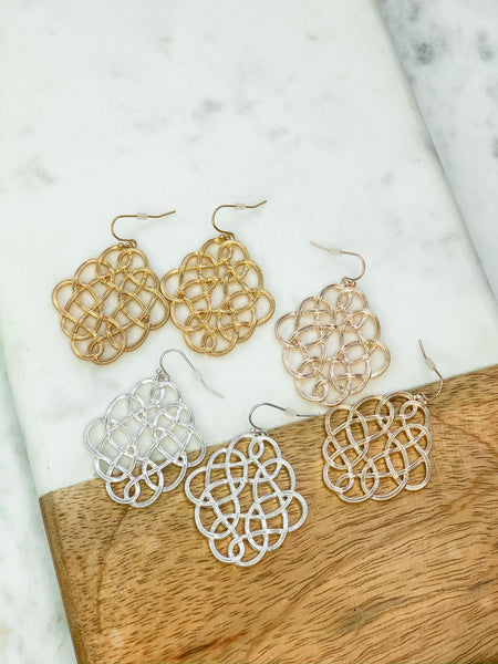 Infinity Dangle Earrings - Choice of Color