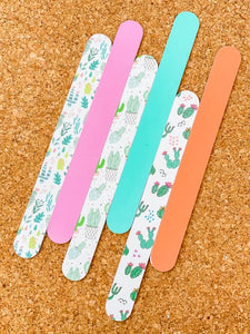 6PC Nail File Set - Cactus