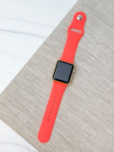 Neon Orange Silicone Smart Watch Band - S/M