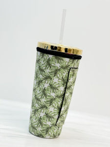 Insulated Cold Cup Sleeve with Handle - Palm
