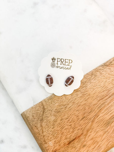 Petite Pave Sports Ball Stud Earrings