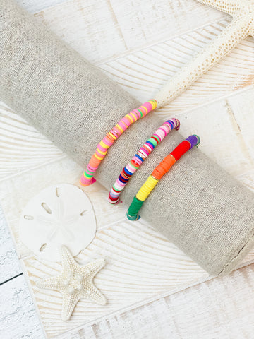 Rubber Disc Stretch Bracelets