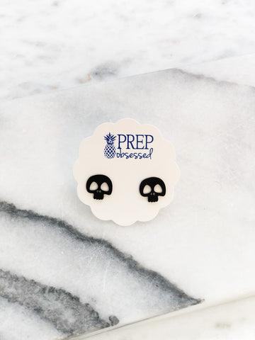 Halloween Skull Stud Earrings