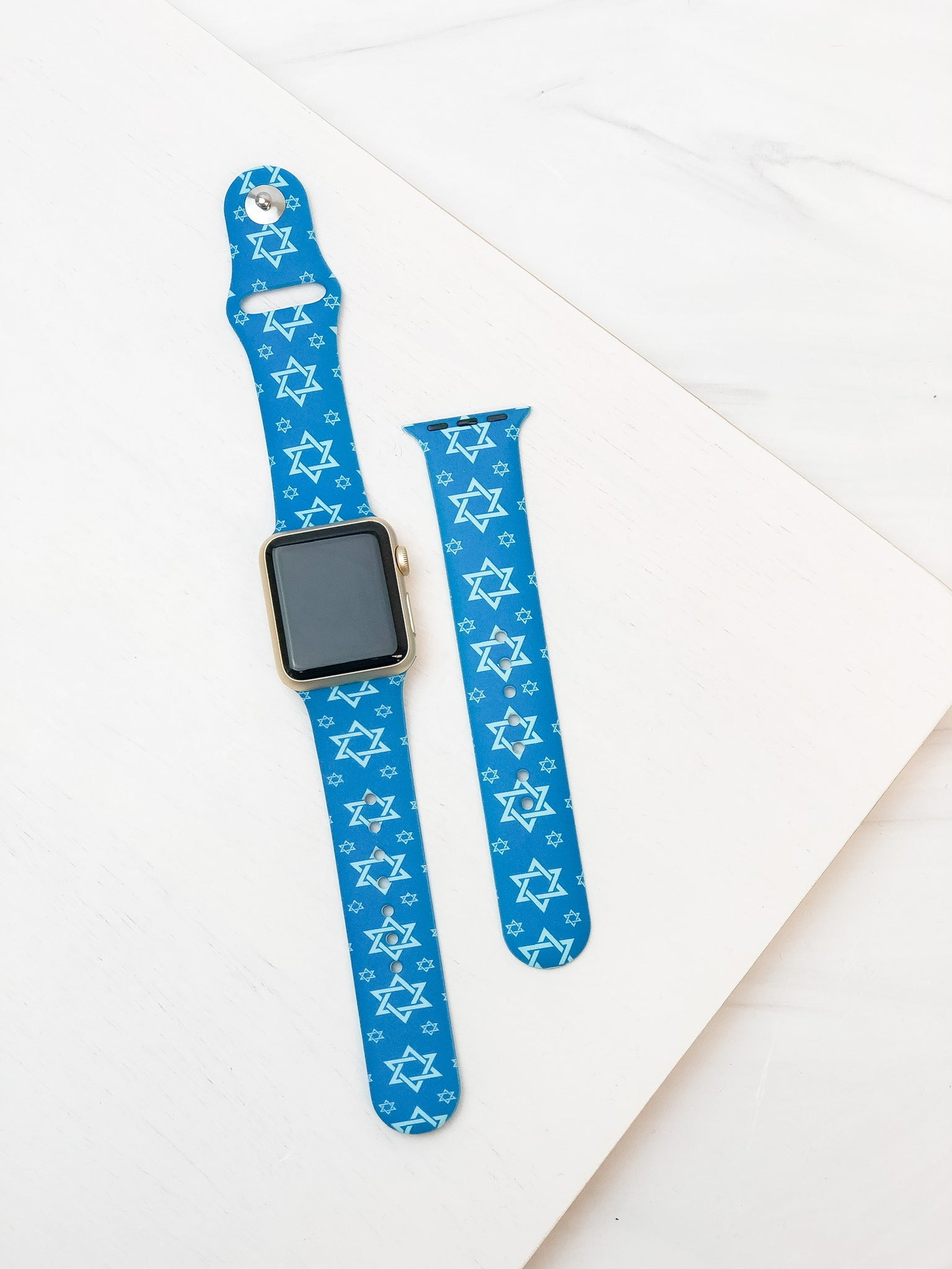 Star of David Printed Silicone Smart Watch Band