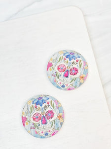 Sugar Skull Printed Drink Car Coaster - Set of 2