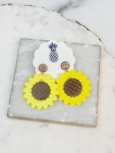 Acetate Sunflower Dangle Earrings