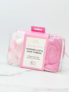 Tame the Mane Shower Hair Set - Pink Tie Dye