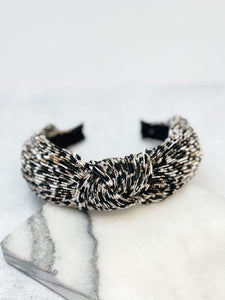 Top Knot Silk Headband - Leopard