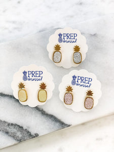 Druzy Pineapple Stud Earrings