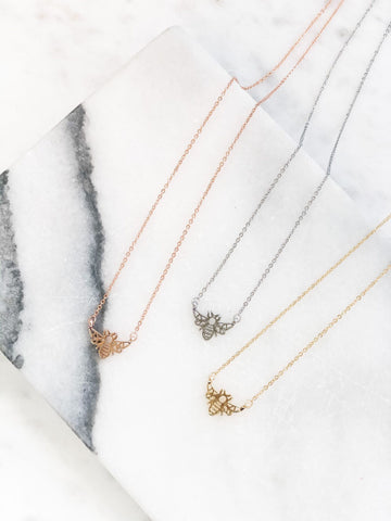 Bee Pendant Necklaces