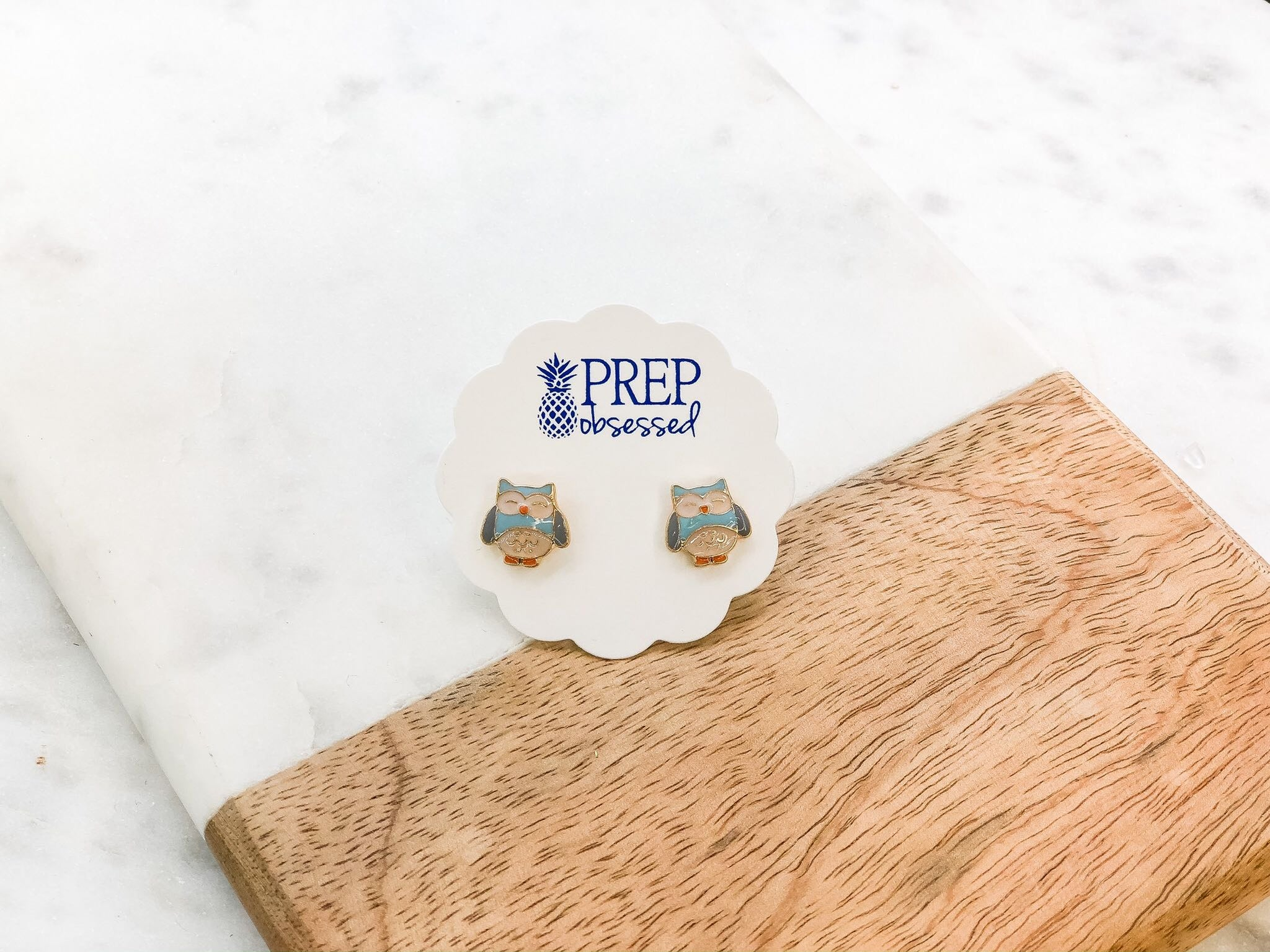 Owl Signature Enamel Studs by Prep Obsessed