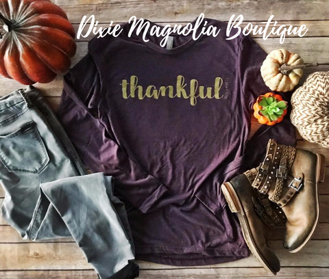 Thankful Long Sleeve Graphic Tee