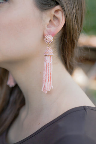 The Kaitlin Beaded Earrings: Pink