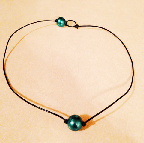 Turquoise Pearl Choker