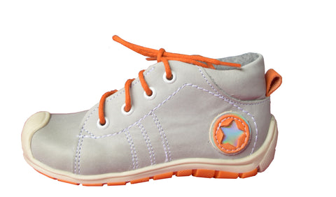 Emel Grey Orange Warm Trainers