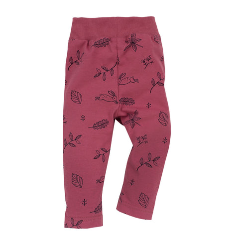 Dark pink baby leggings