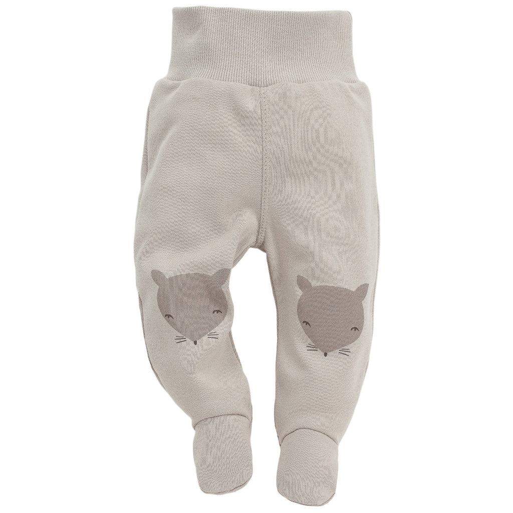 Beige Baby Footed Joggers