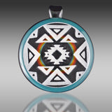 Amani Summerday Carved Pendant (Rainbow)