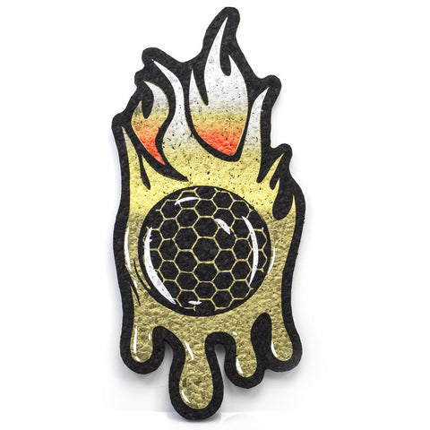 Burn x Joe P Honeycomb Drip Flame Moodmat