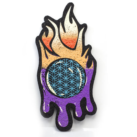 Burn x Joe P Flower of Life Flame Moodmat