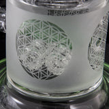 Pulse Glass Sandblasted Drumline to Honeycomb Tube (Green)