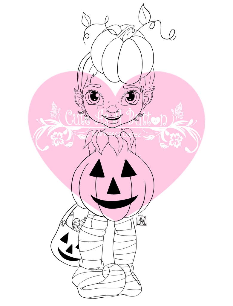 Cute As A Button Designs IMG00541 Lil' Pumpkin Digital Digi Stamp