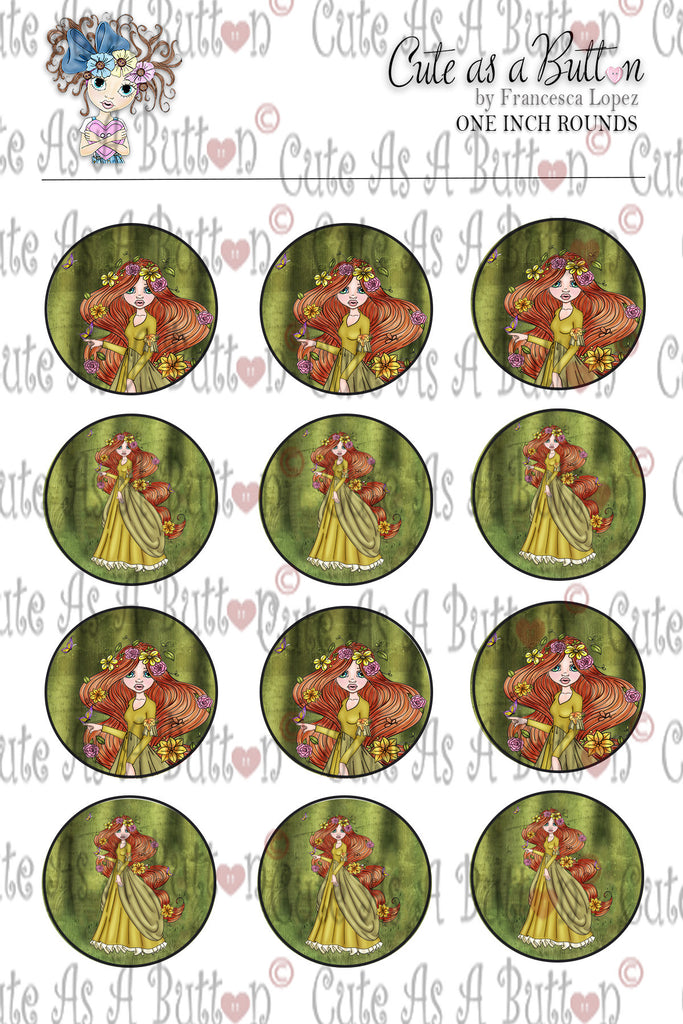Cute As A Button Designz BC00023 Mother Nature Caps/Buttons/Stickers 4x6