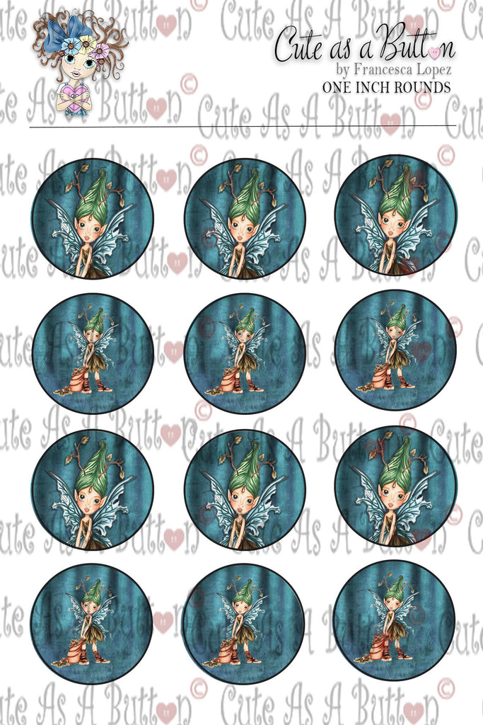 Cute As A Button Designz BC00025 Autumn Fairy Caps/Buttons/Stickers 4x6