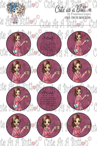 Cute As A Button Designz BC00026 Morning Devotion Caps/Buttons/Stickers 4x6