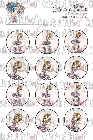 BC00027 Ballerina Caps/Buttons/Stickers 4x6