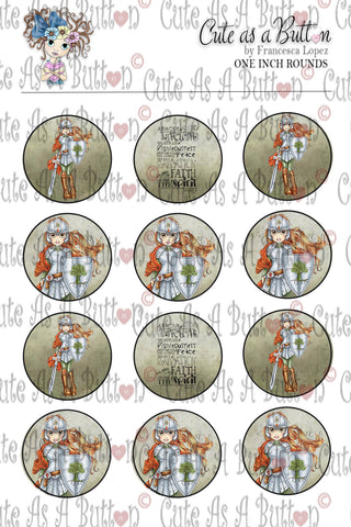 Cute As A Button Designz BC00028 Armor of God Caps/Buttons/Stickers 4x6