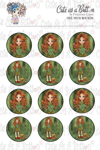 Cute As A Button Designz BC00032 Luck of the Irish Bottle Caps/Buttons/Stickers 4x6