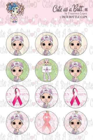 Find A Cure Cancer Bottle Caps by Cute As A Button Digistamps