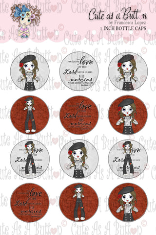Love Conquers All Bottle Caps by Cute As A Button Digistamps