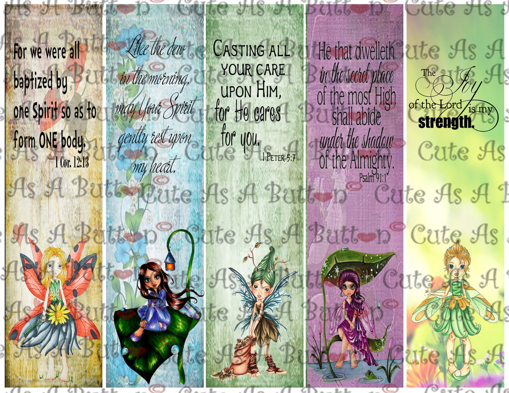 Bible-Journal-Bookmark-Journal-Tag - Fairies of Faith BM00002 Digital Instant Download
