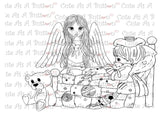 Cute As A Button Stamps Angels Watching Over Me Digistamp