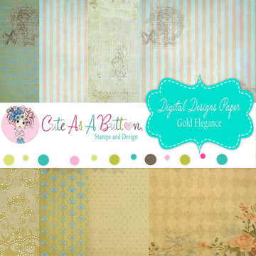 Blue Elegance Digital Papers 6x6 Digital Download Papers Cute As A Button Stamps