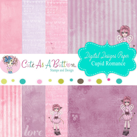 DP00003 Cupid Romance Digital Papers 12x12