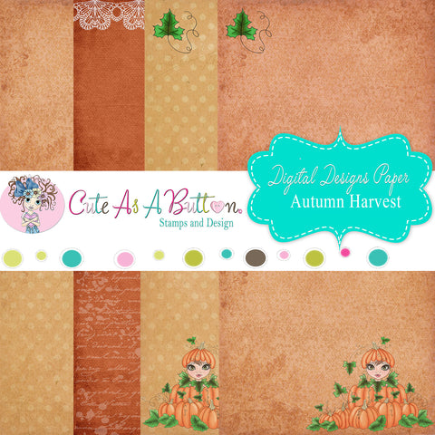 DP00005 Autumn Harvest Digital Papers 6x6 by Cute As A Button Designs
