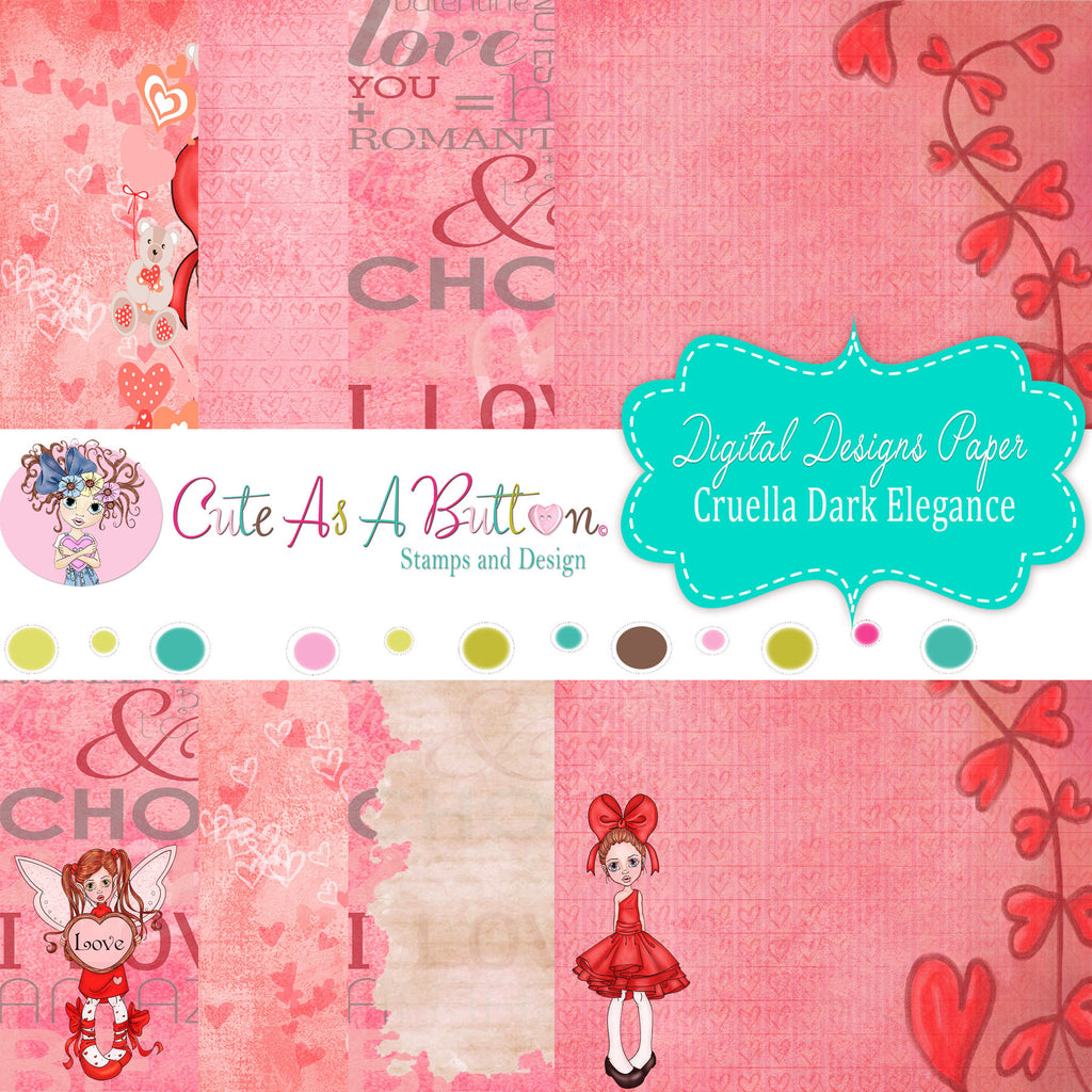 DP00008 Valentine Love Digital Papers 6x6