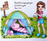 IMG00072 Camping Roadtrip - Bible Journaling Bookmark Digital Digi Stamp