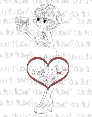 digi stamp little shop of horrors kiss me