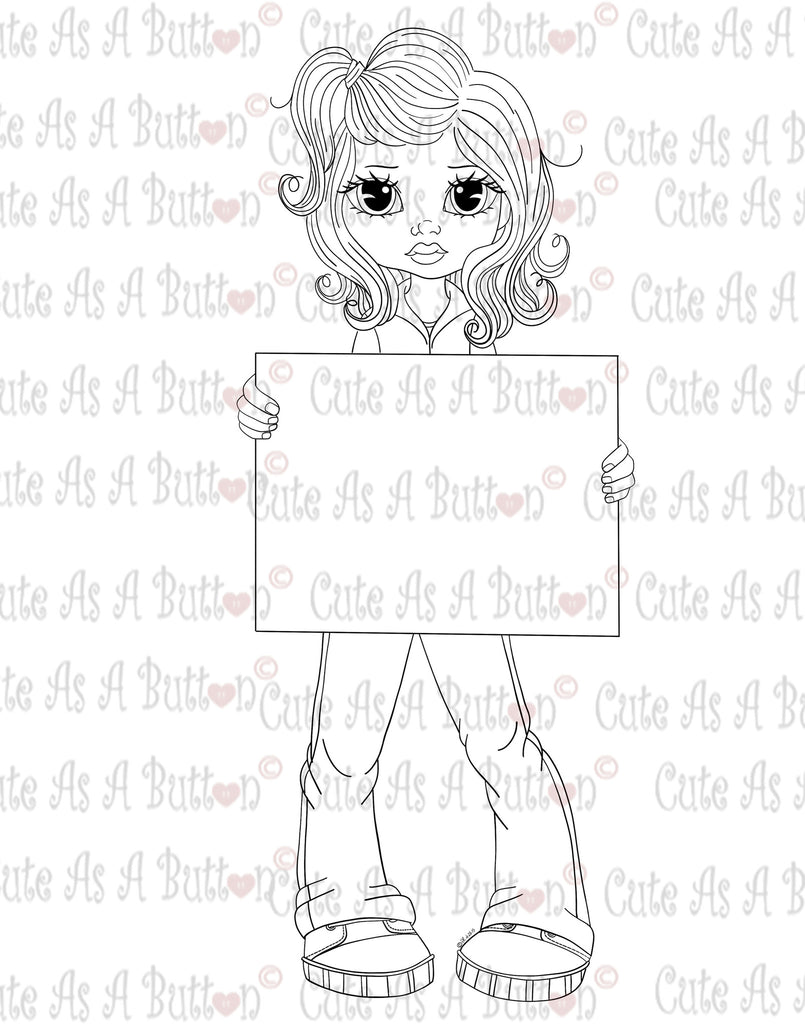 Cute As A Button Digistamps Stop Animal Cruelty Digi Stamp