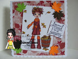 IMG00110 Pre-Colored Fall Fun Digital Digi Stamp