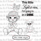Chloe Little Light Mine Digistamp by Cute As A Button Stamps