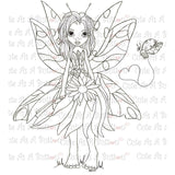 Cute As A Button Stamps Butterfly Fairy Digistamp