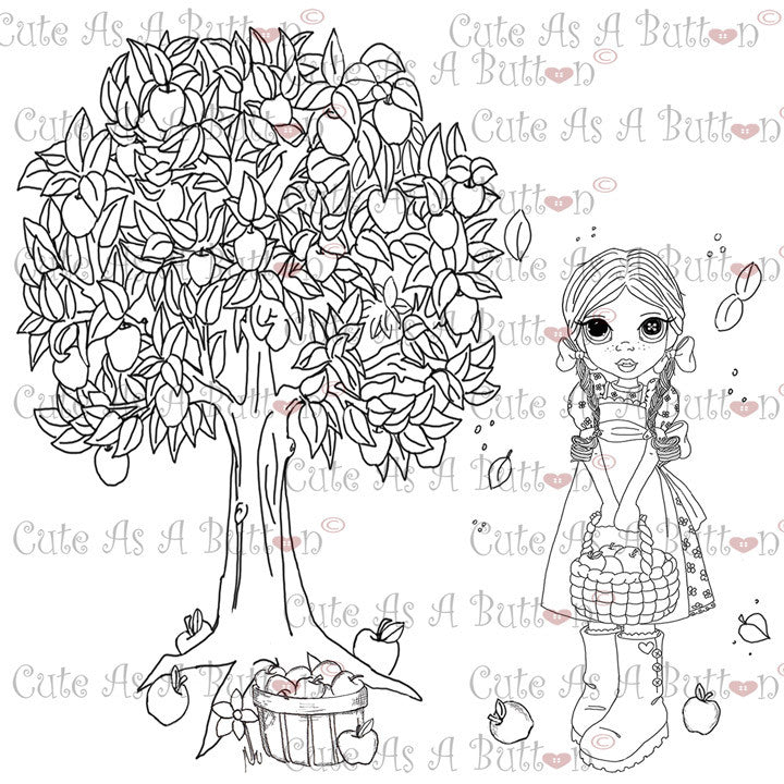 Cute As A Button Digistamps The Harvest Is Ready Digi Stamp