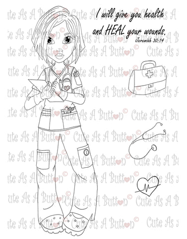IMG00046 Nurse Gen Asian Digital Digi Stamp
