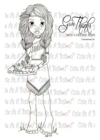IMG00074 Give Thanks - Bible Journaling  Bookmark Digital Digi Stamp